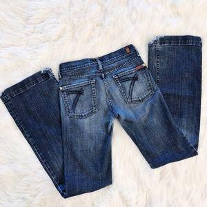 Seven for All Mankind Dojo Dark Wash Flared Jeans